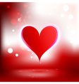 beautiful background with heart vector image vector image