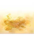 Abstract composition with gold coins vector image