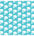 background pattern with human skull profile vector image