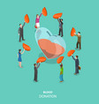bood donation flat isometric concept vector image
