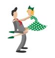 Couple dancing rocknroll cartoon vector image