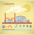 industrial factory pipes template vector image