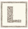 Ornamental letter for your design vector image