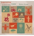 Retro agriculture and farming icons vector image