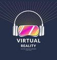 virtual reality helmet new technologies for games vector image
