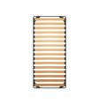 slats bed frame vector image
