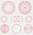 Set of star circle vector image