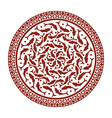 oriental ornament with fish vector image