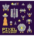 Spaceship isolated set vector image