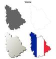 Vosges Lorraine outline map set vector image vector image