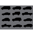 Cars silhouettes part 3 vector image vector image