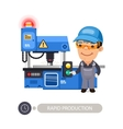 Worker and Milling Machine vector image