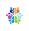 colorful brain abstract knowledge logo vector image