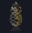 decorative golden pineapple vector image