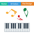 Flat design icon of Piano keyboard vector image