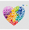 heart with butterfly isolated vector image