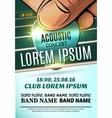Modern poster for a acoustic concert rock festival vector image