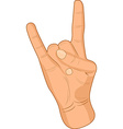 Rock sign vector image