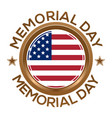 Round banner for memorial day vector image