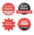 sale banner design collection of black friday vector image