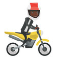 young african-american man riding motorcycle vector image