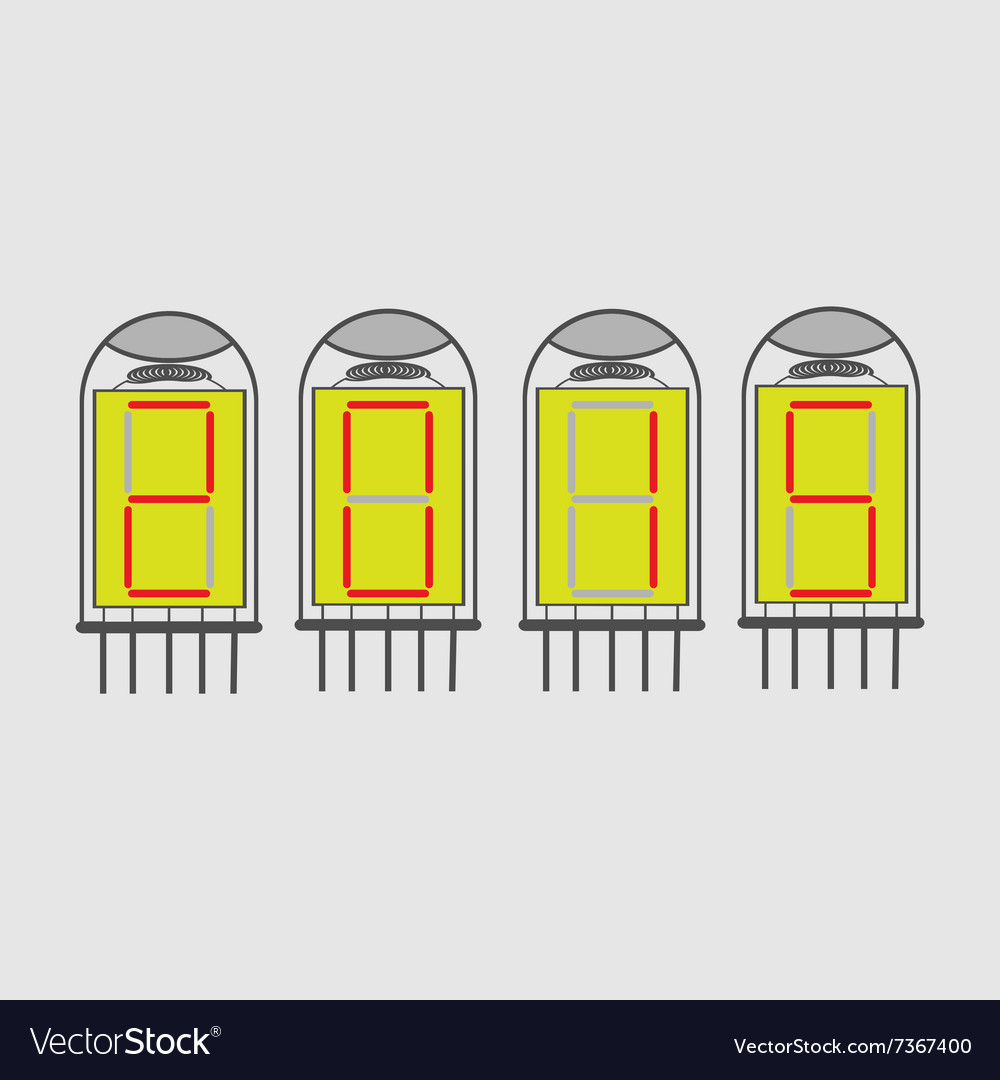 Color icon set with radio tubes vector