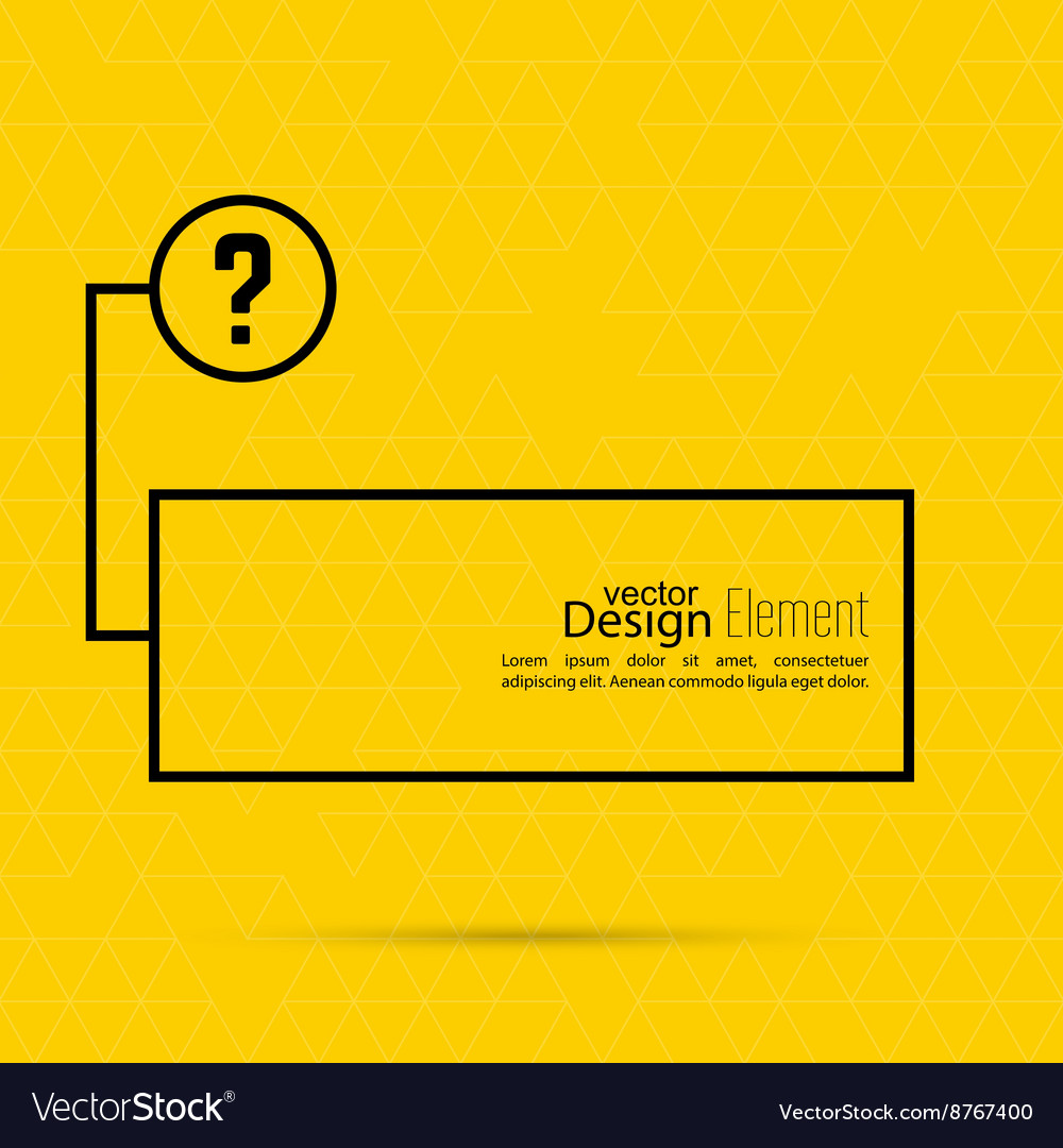 Question mark blank template vector