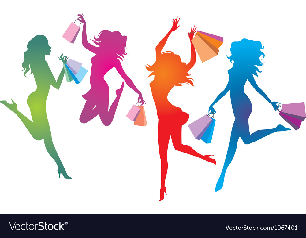 Shopping euphoria vector