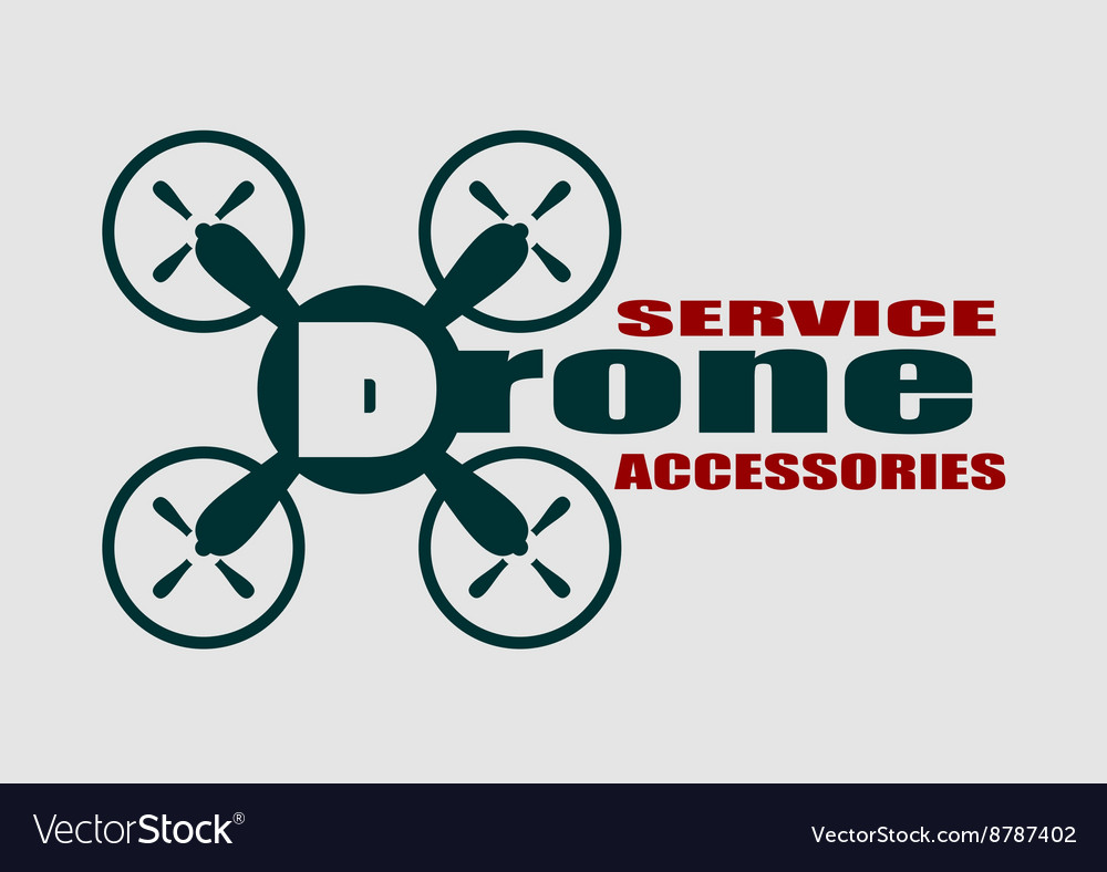 Drone icon drone service and accessories text vector