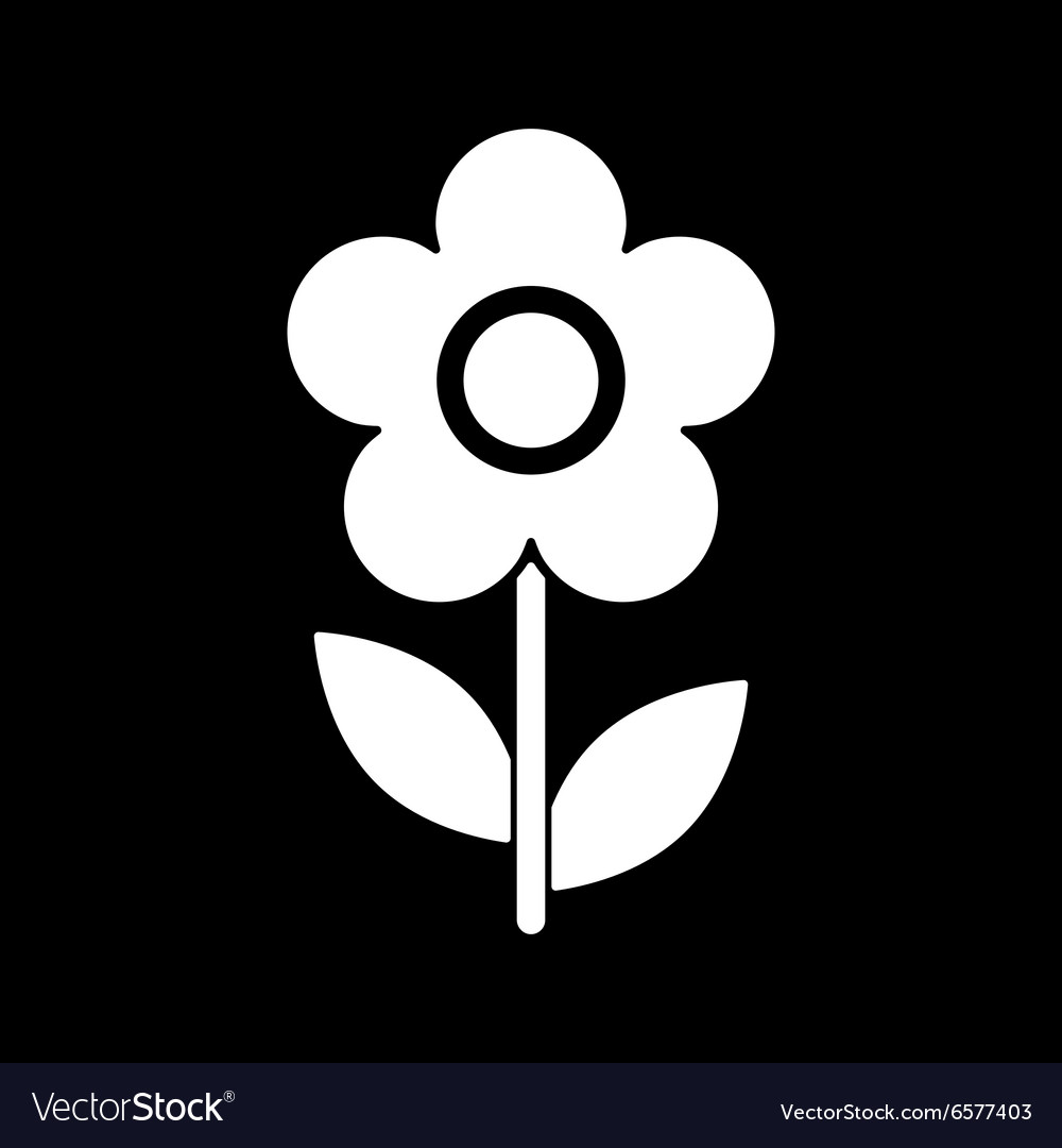 Flower icon nature symbol flat vector