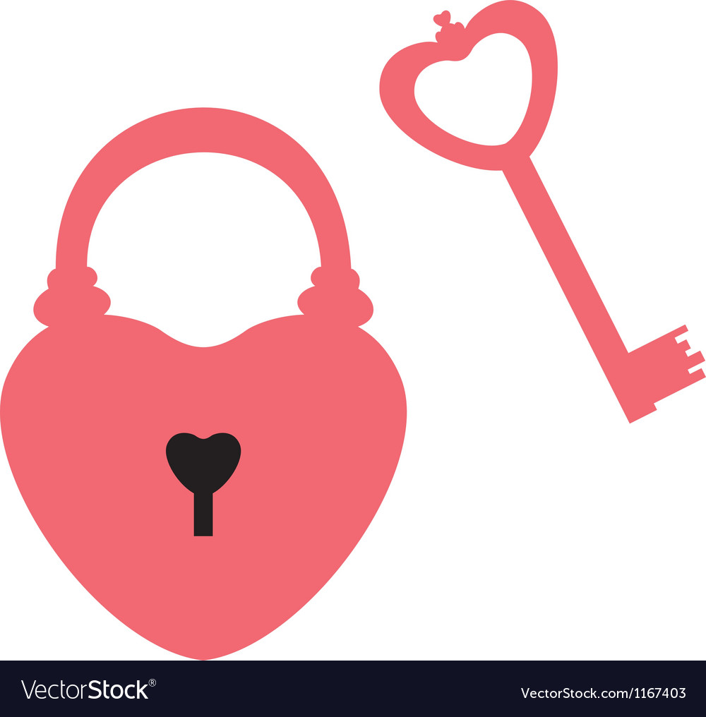 Lock and key vector