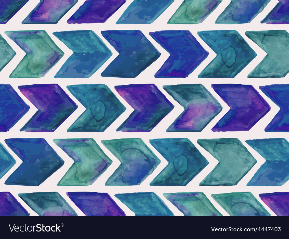 Seamless watercolor geometric pattern vector