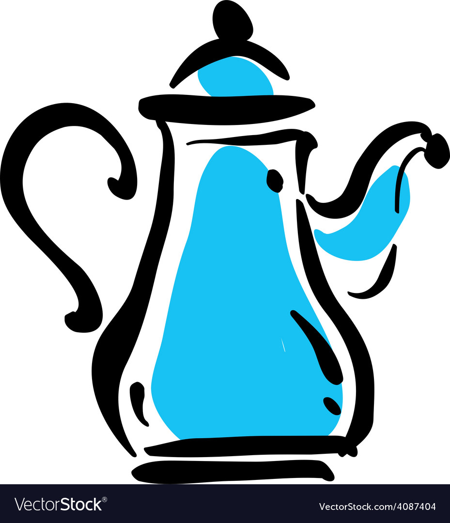 Teapot icon on white background vector