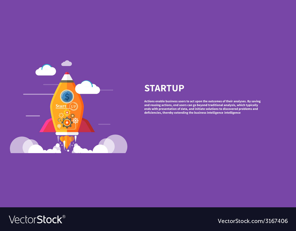 Start up rocket vector