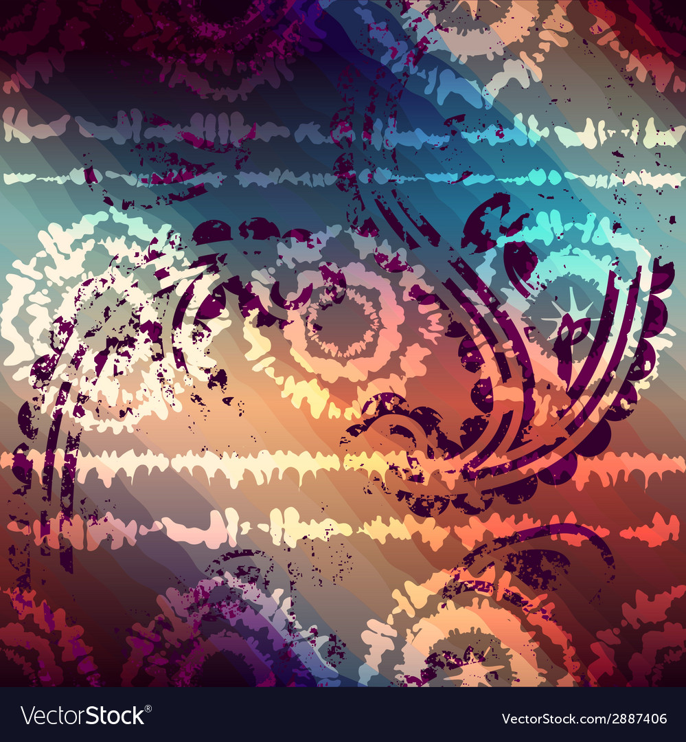 Tiedye grunge pattern with transparency vector