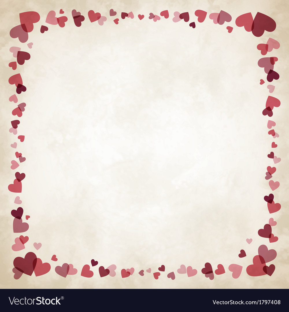 Border of hearts vector