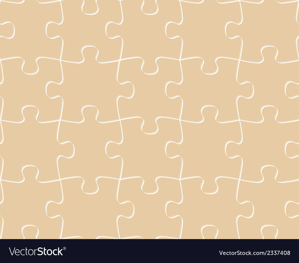 Seamless pattern puzzle vector