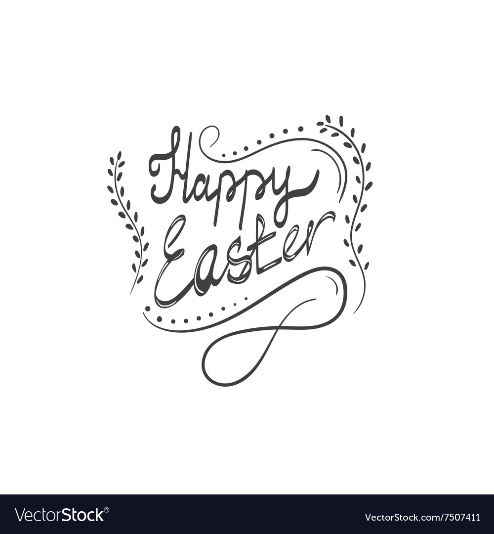 Card with happy easter lettering4 vector