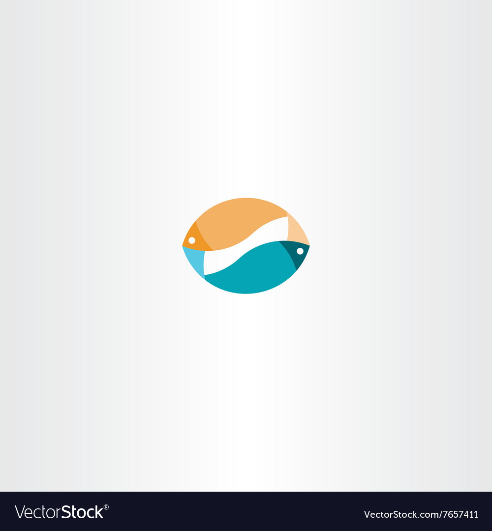 Fish sign logo icon design symbol vector