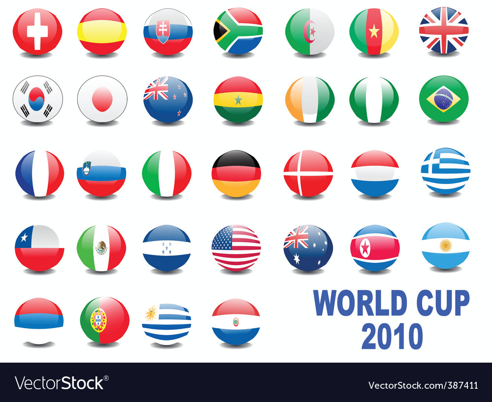 World cup balls vector