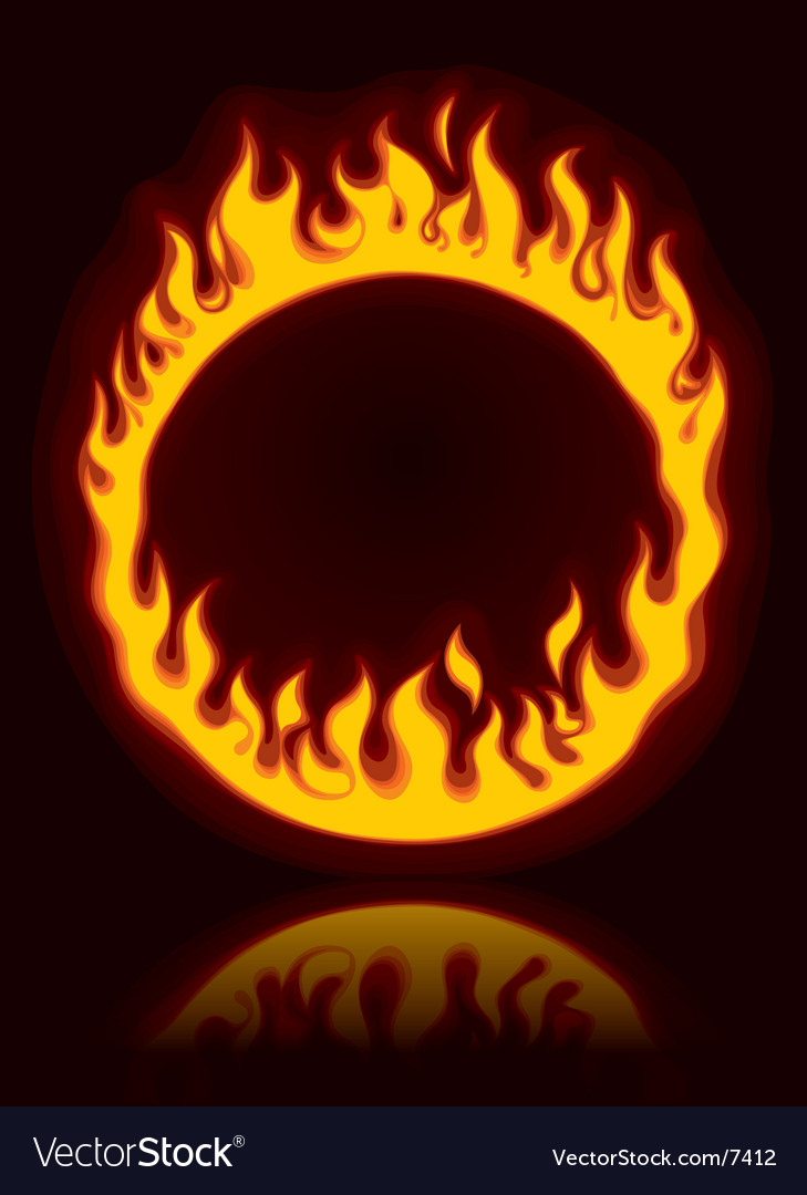 Fiery ring vector