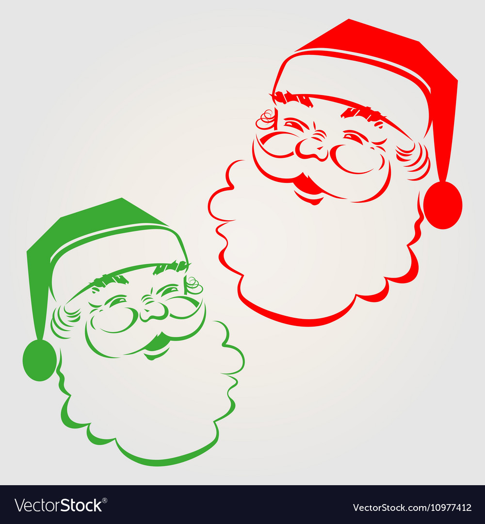 Silhouette of santa claus vector