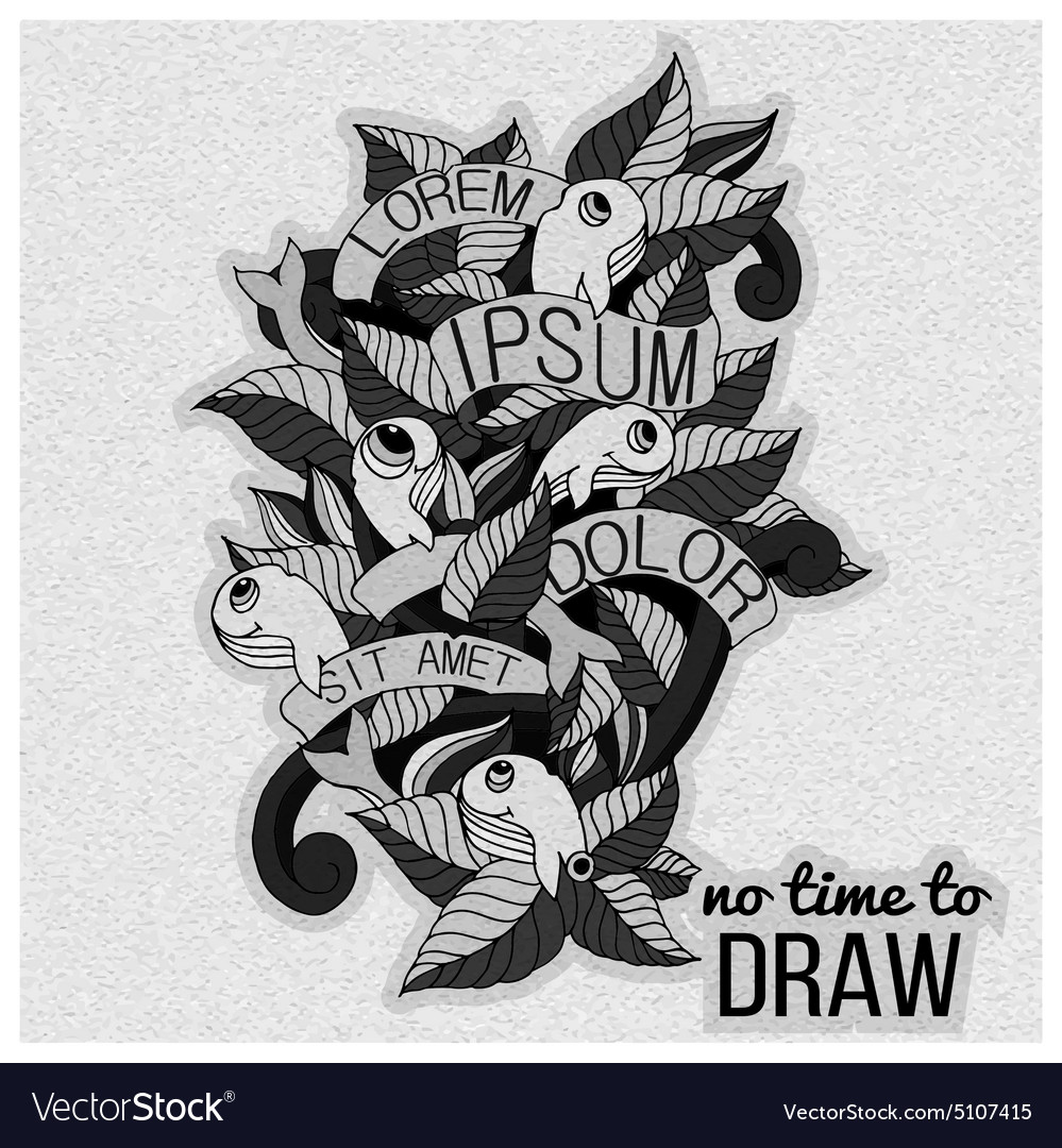 Detailed doodles on paper textureblack and white vector