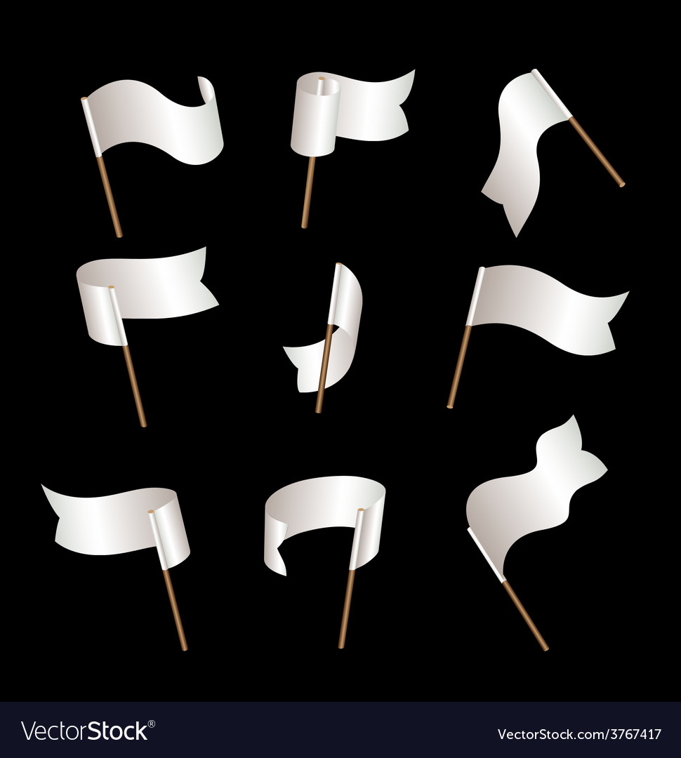 Flagset white vector