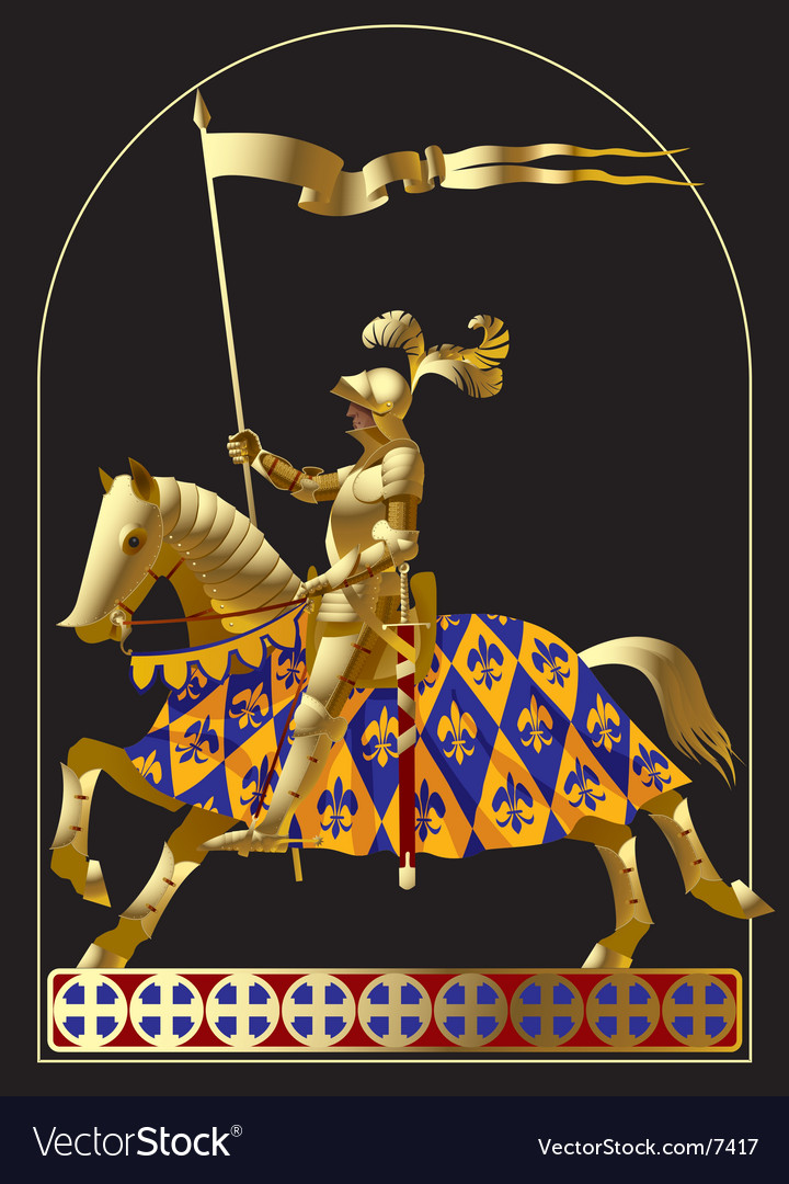Gold knight vector