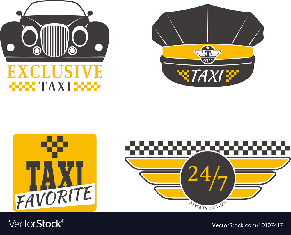 Taxi logo badge vector