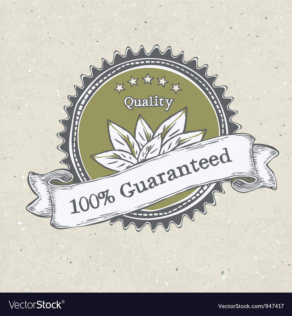 Vintage label organic products vector