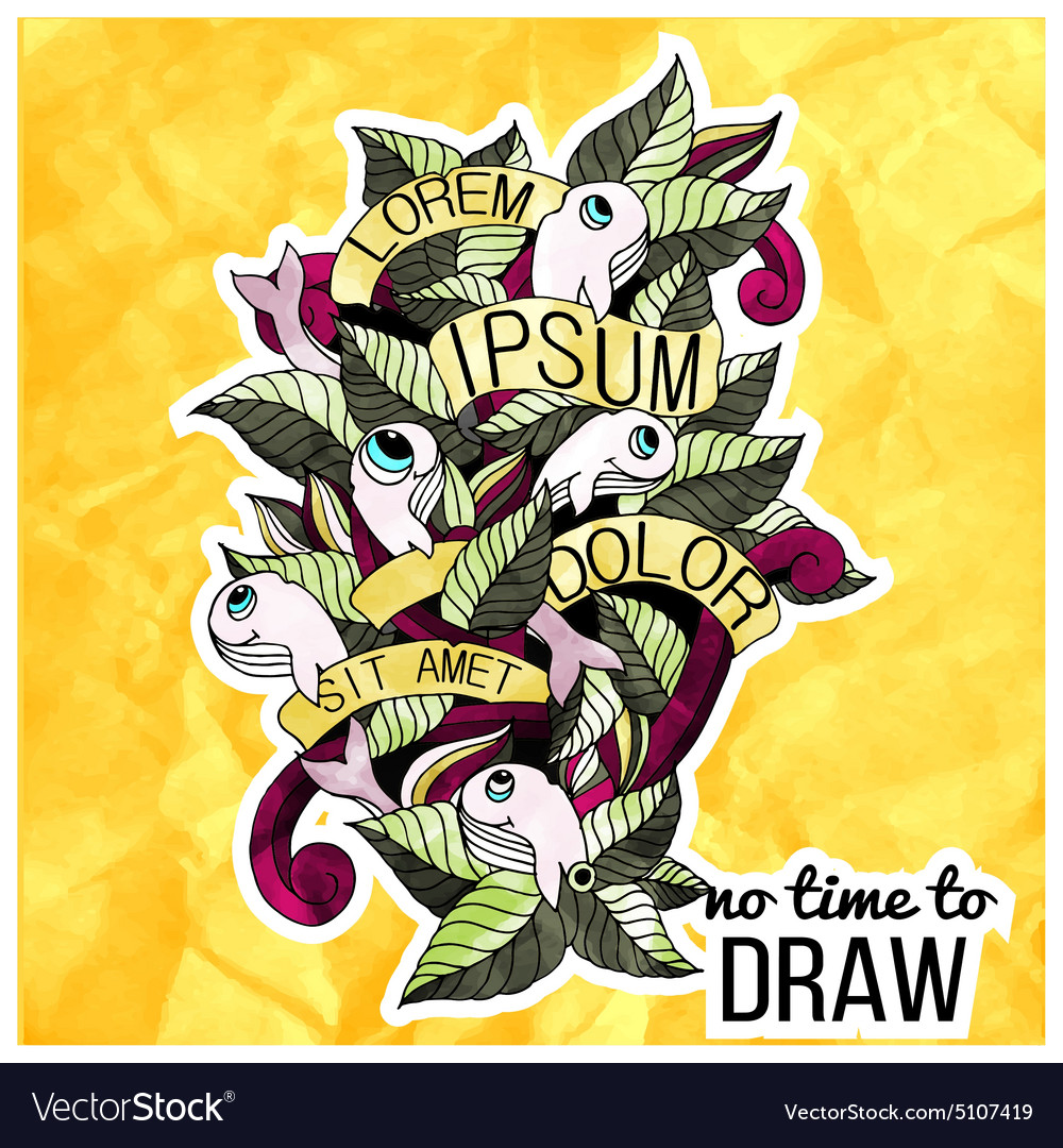 Detailed doodles on paper texturecolorful design vector