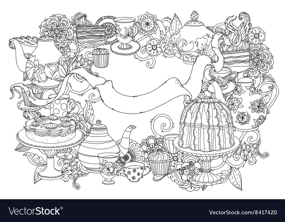 Still life with flowers vector