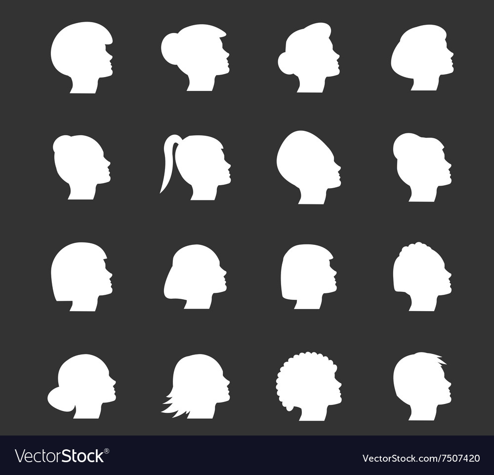 Woman icons set vector